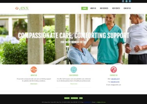 ANX Hospice Care HomePageDesign